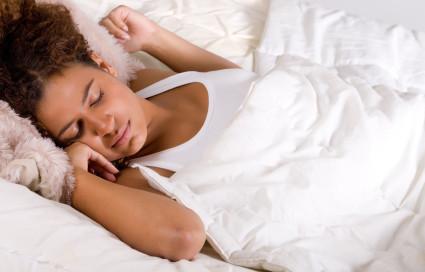 Sleeping african lady